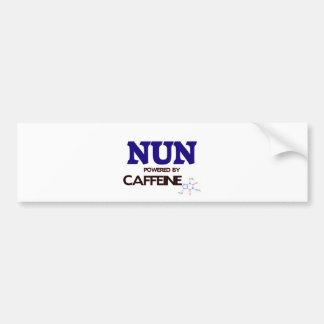 Nun Powered by caffeine Car Bumper Sticker