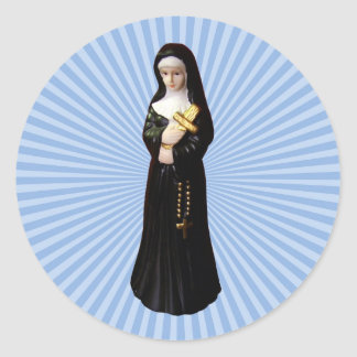 Nun Round Sticker