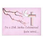 Nuns 25th Jubilee Celebration Invitations 13 Cm X 18 Cm Invitation Card