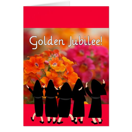 Nuns 50th Jubilee--Floral Design Gifts Card