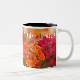 Nuns 50th Jubilee--Floral Design Gifts Two-Tone Coffee Mug