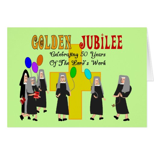 Nuns Golden Jubilee Gifts Greeting Cards