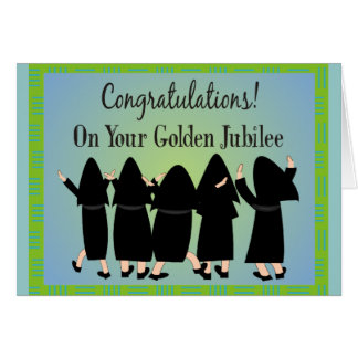 Nuns Golden Jubilee Gifts Greeting Card