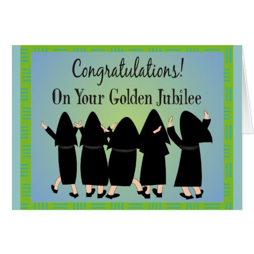 Nuns Golden Jubilee Gifts Cards