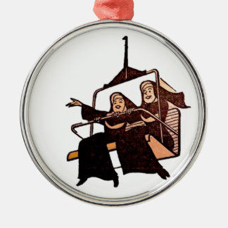 nuns having fun .jpg christmas ornament