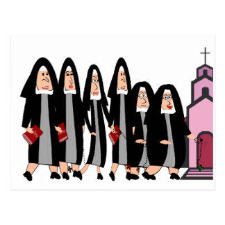 "Nuns ""Heading to Church"" Postcard"