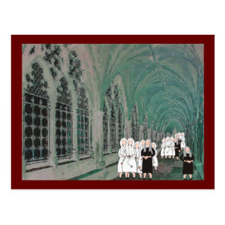 Nuns in the Westminster Abbey Cloister Postcard