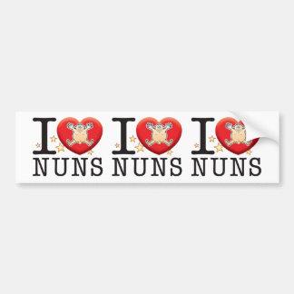 Nuns Love Man Bumper Sticker