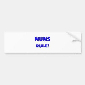 Nuns Rule Bumper Sticker