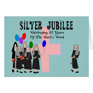 Nuns Silver Jubilee Gifts Cards