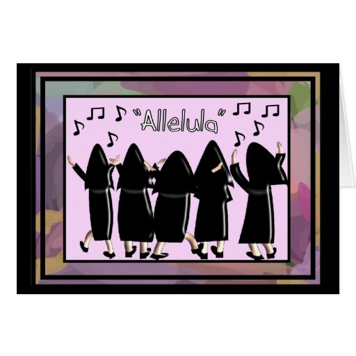 Nuns Singing Alleluia Note Cards