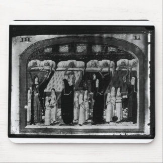 Nuns tending the sick at the Hotel Dieu Mouse Mat