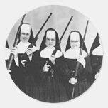 Nuns With Guns Classic Round Sticker