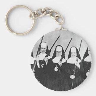 Nuns With Guns Key Ring
