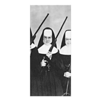 Nuns With Guns Personalised Rack Card