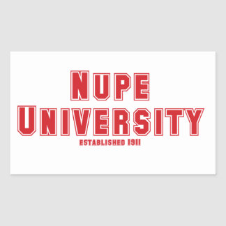 Nupe University Rectangle Stickers