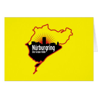Nurburgring Nordschleife race track, Germany Greeting Card