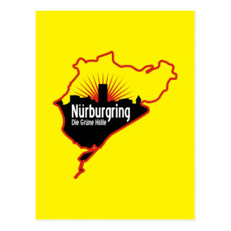 Nurburgring Nordschleife race track, Germany Postcard