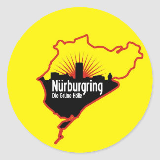 Nurburgring Nordschleife race track, Germany Round Sticker