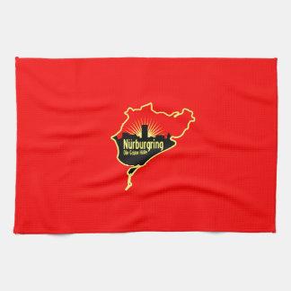 Nurburgring Nordschleife race track, Germany Tea Towel