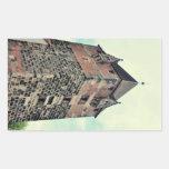 Nuremberg tower rectangular sticker