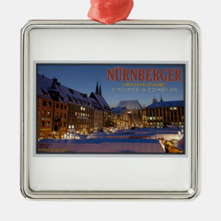 Nürnberg Christkindlesmarkt at Night Christmas Ornament