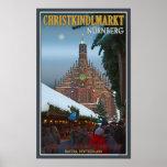 Nürnberg Frauenkirche & Christkindlmarkt Poster