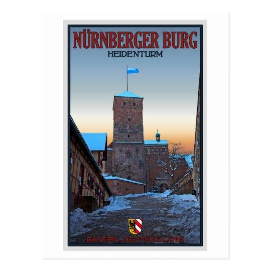 Nürnberg - Heidenturm Winter Postcard