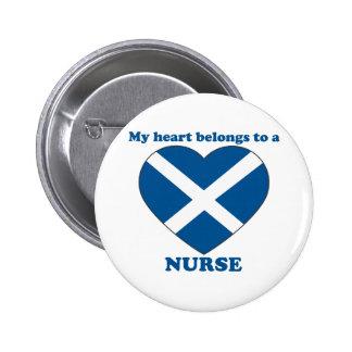 Nurse 6 Cm Round Badge
