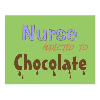 Nurse Addicted To Chocolate Postcards