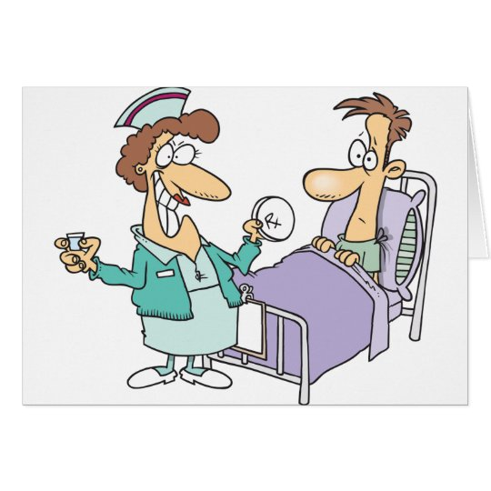 Nurse And Patient Greeting Cards
