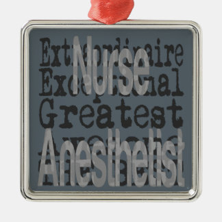 Nurse Anesthetist Extraordinaire Silver-Colored Square Decoration