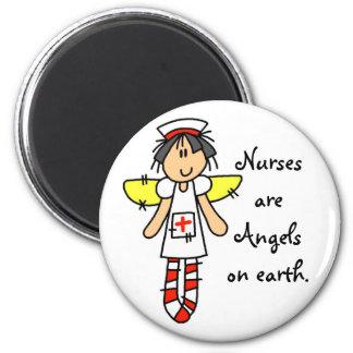 Nurse Angel 6 Cm Round Magnet