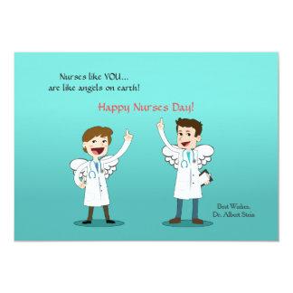 "Nurse Angels Nurses Day Card 5"" X 7"" Invitation Card"