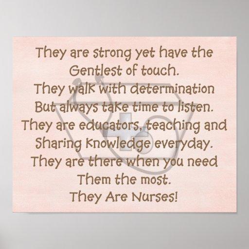"Nurse Art Poem ""They Are Nurses"" 14X11"" Poster"