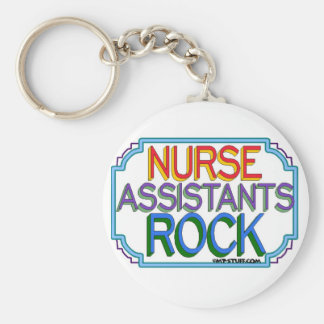Nurse Assistants Rock Basic Round Button Key Ring