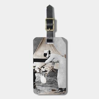 Nurse at Water Pump WWI Bag Tags