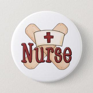 Nurse Bandage word art button