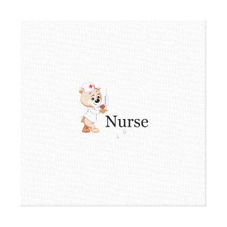 Nurse Bear Canvas Prints