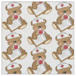 Nurse Bear Cartoon Pima cotton fabric