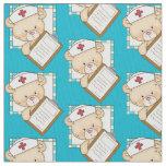 Nurse Bear Pima cotton fabric