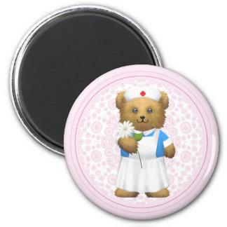 Nurse Bear - Teddy Bear 6 Cm Round Magnet