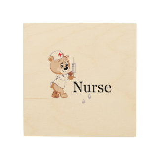Nurse Bear Wood Canvases