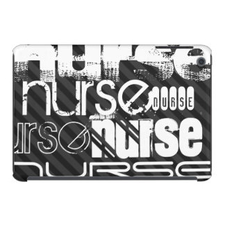 Nurse; Black & Dark Gray Stripes iPad Mini Case