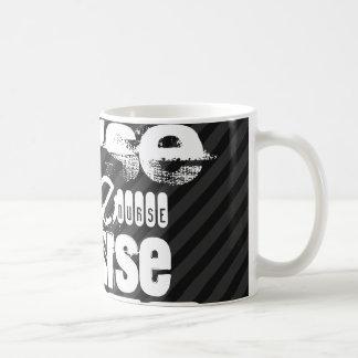 Nurse; Black & Dark Gray Stripes Basic White Mug