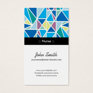 Nurse - Blue Abstract Geometry