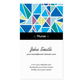 Nurse - Blue Abstract Geometry Pack Of Standard Business Cards