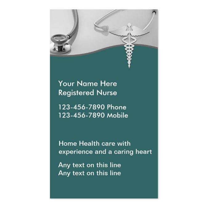 Nurse business cards for Nurse business cards