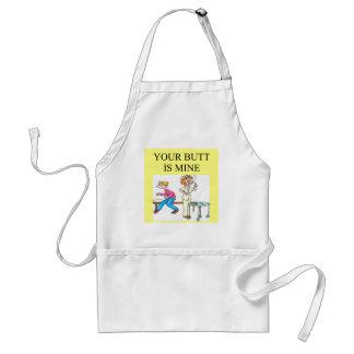 nurse butt joke standard apron