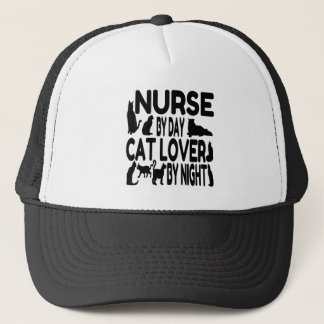 Nurse by Day Cat Lover by Night Trucker Hat
